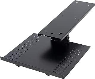 VIVO Black Sliding 19 x 6 inch Tray Track, Adjustable Platform Mounted Under Desk | Laptop Notebook Holder for Office Desk (DESK-AC02A)