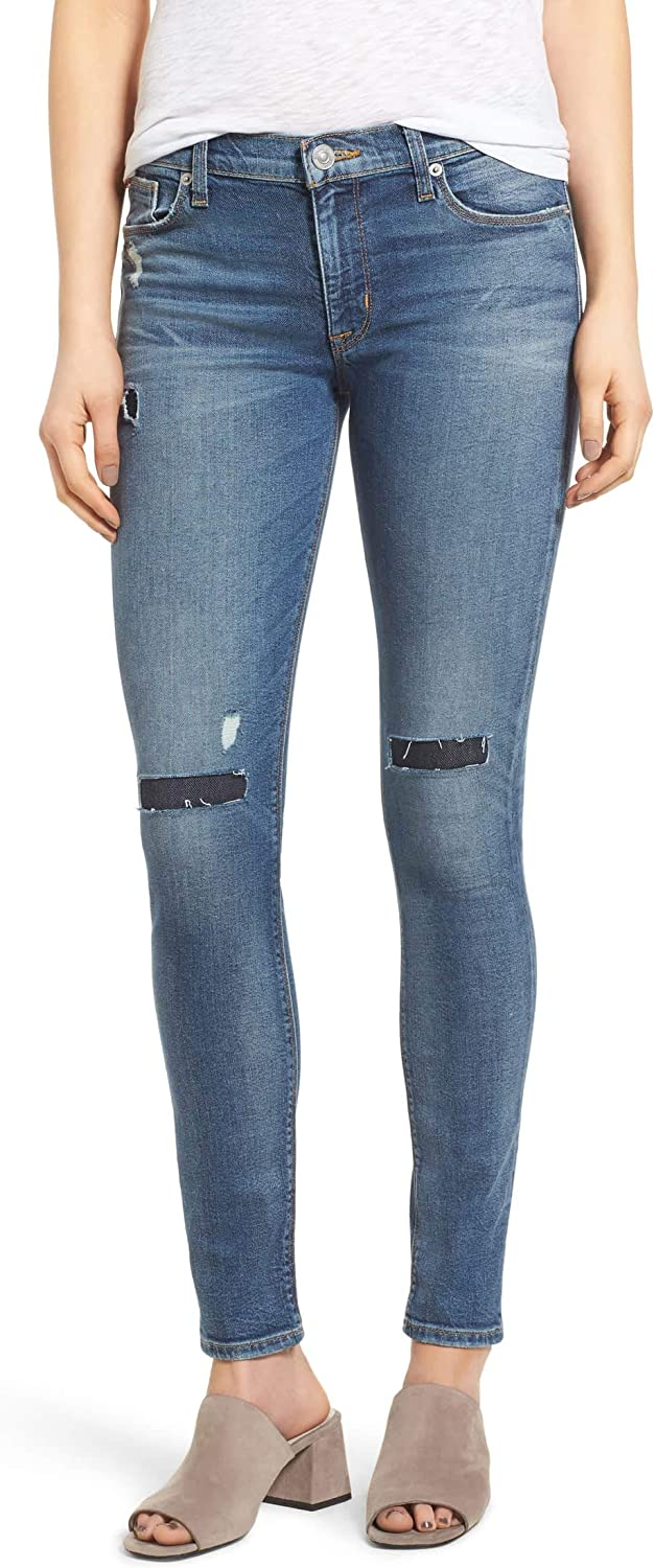 Hudson Womens Nico Ripped Skinny Fit Jeans