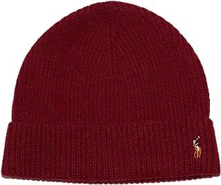 قبعة صوف ميرينو من بولو رالف لورين سيجنيتشر - أحمر نوماديك