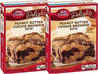 Betty Crocker Delights Mix Peanut Butter Cookie Brownie Bar Mix 17.2 Oz (2 Pack)