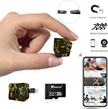Mini Spy Camera Wireless Hidden (Camouflage&32GB SD Card Combo)