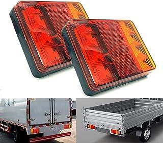 caravane camping-car Facon Plafonnier LED Plafonnier 12V 7W avec interrupteur marche // arr/êt et 3 ampoules LED rondes pour camping-car remorque bateau
