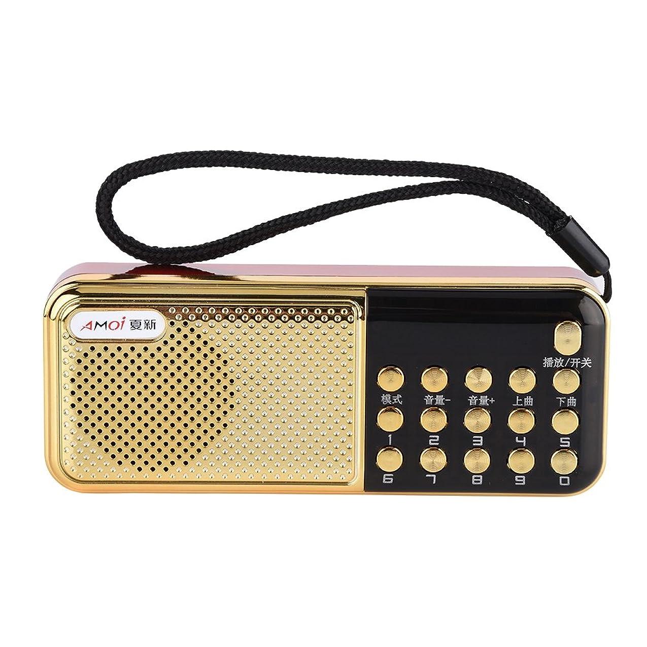 みなさん万一に備えて物思いにふけるVBESTLIFE M-11ミニスピーカーラジオ PWカットメモリ機能 MP3プレーヤーラジオ ポータブル 87.5-108MHz 高品質 高音質 FMスピーカーラジオ
