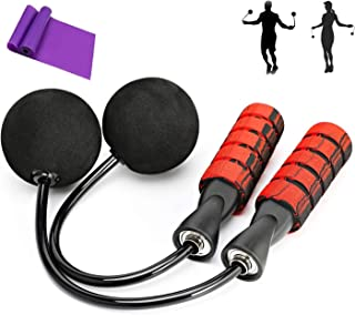 Prime Body Basics Ropeless Jump Rope, Cordless Jump Rope with Two Weighted Balls, Tangle Free Rapid Speed Cordless Indoor ...