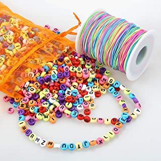 Kordel zur Schmuckherstellung Perlenarmband Angeldraht 0,5/mm 50 m // Rolle Orange bunt elastisch Greenpromise Nylonfaden