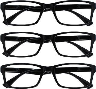 The Reading Glasses Company Zwarte lezers waarde 3 Pack Mens Womens UVR3092BK +1.50