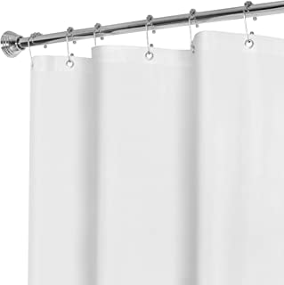 MAYTEX Super Heavyweight Premium 10 Gauge Shower Curtain Liner with Rustproof Metal Grommets, White, 72 inch x 72 inch in Vinyl - This Product is Treated with an Agent to Resist Mildew