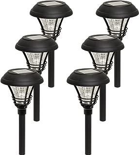 Westinghouse Kenbury LED Outdoor Garden Solar Path Lights (Black, 6 Pack)