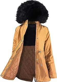 Ladies' Code Women's Faux Fur Hooded Fur Lined Sherpa Warm Jacket w/Detachable Fur Trim