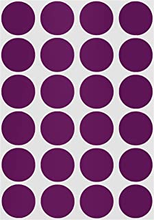 ChromaLabel 3/4 Inch Color Code Dot Labels on Sheets, 1008 Pack, Purple