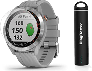 Garmin Approach S40 (Gray) Golf GPS Smartwatch Bundle   Includes PlayBetter Portable Charger (2200mAh) & HD Screen Protect...