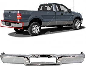 MBI AUTO - Chrome, Steel Rear Step Bumper Face Bar for 2004 2005 2006 Ford F150 Pickup 04 05 06, FO1102349