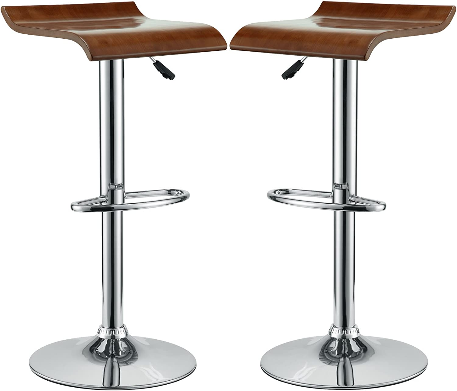 Modway Two Bentwood Bar Stools