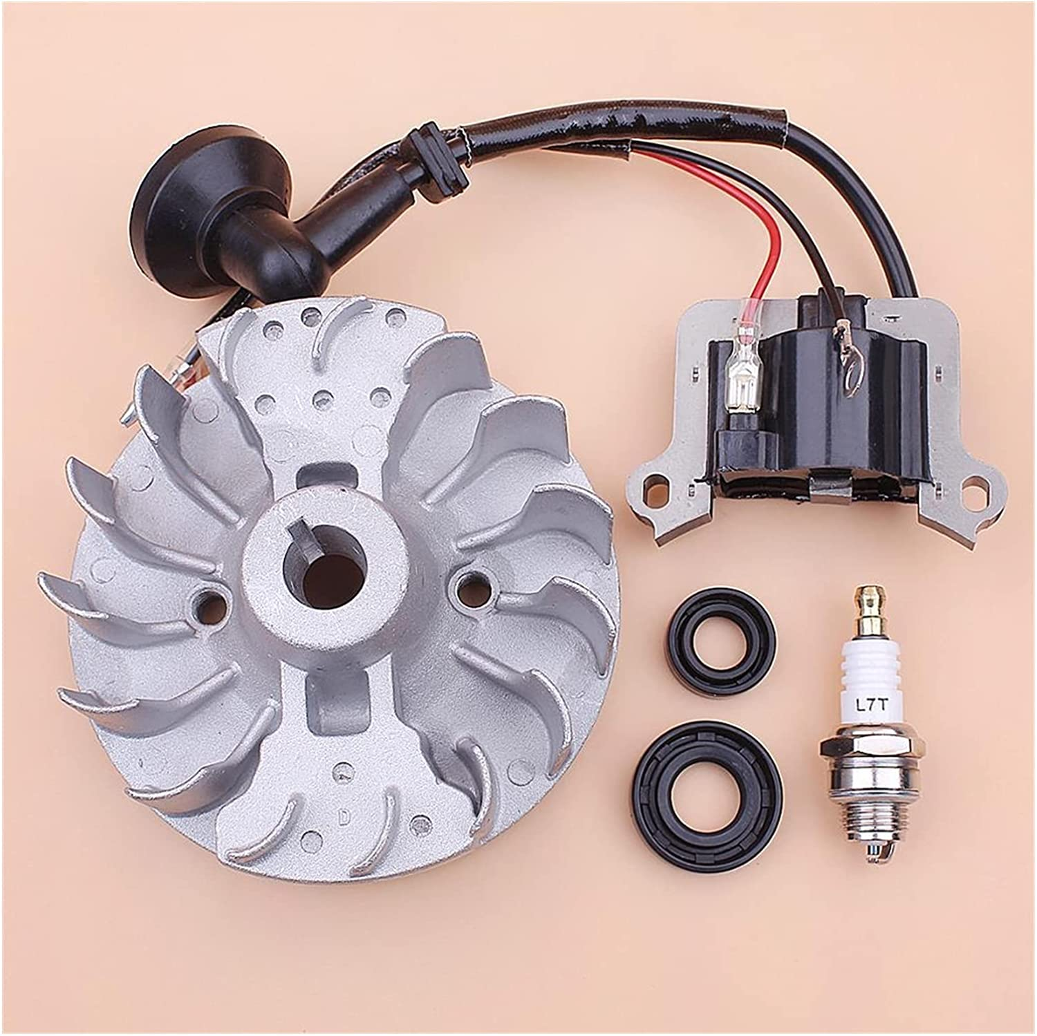 ZRNG Flywheel Ignition Inexpensive Gorgeous Coil for 40-5 Se 43cc Plug 52cc Oil Spark