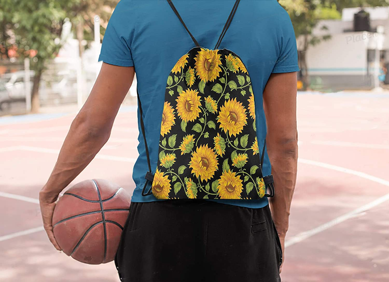 Britimes Drawstring Bag Pink Flamingo Waterproof Outdoor Hiking Beach Gym Backpack Pull String Storage Sackpack Gift for Girls