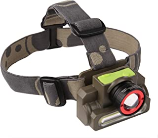 DOCOSS 2 in 1 -Zoomable Ultra Bright Waterproof Cree USB Rechargeable ABS Military LED Head lamp/Torch Headlight for Campi...
