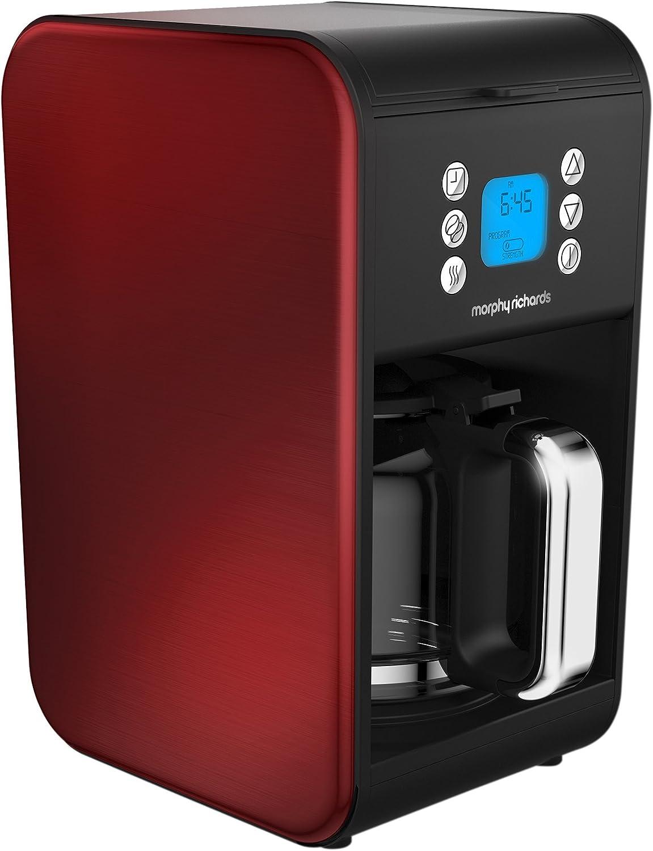 mejor servicio Morphy Richards Accents Independiente - Cafetera (Independiente, Cafetera Cafetera Cafetera combinada, 1,8 L, De café molido, 900 W, Rojo)  el mas de moda