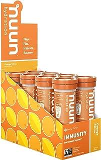 Nuun Immunity: Antioxidant Immune Support Hydration Supplement with Vitamin C, Zinc, Turmeric, Elderberry, Ginger, Echinacea, and Electrolytes. Flavor: Orange Citrus, 8 tubes (80 servings)
