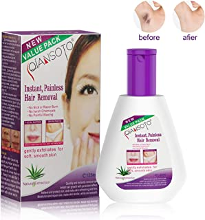 Hair Removal Cream, iFanze Hair Remover Lotion Sensitive with Aloe Vera - For Face, Underarms, Chest, Arms, Bikini, Legs - Hair Removal for Women & Men (125ML)