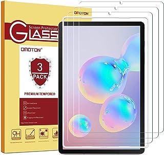 OMOTON Protector Pantalla para Samsung Galaxy Tab S6 T860/ S5E 10.5 [10.5 Pulgadas] Dureza 9H, Borde Redondo 2.5D Cristal Vidrio Templado Premium, Anti-arañazos, Anti-Aceite,sin Burbujas [3 Piezas]