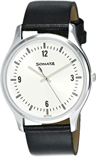 Sonata Essentials Analog Silver Dial Men's Watch-77082SL01