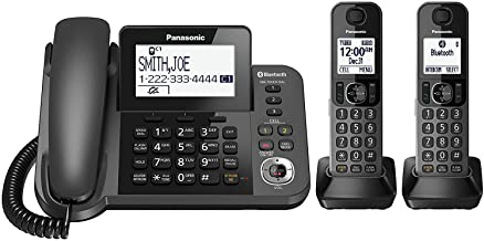 Panasonic KX-TGF382M Link2Cell Bluetooth Corded/Cordless Cordless Phone and Answering..