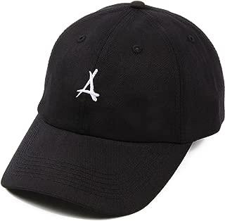 """Tha Alumni Clothing (アルムナイクロージング) ロゴ 6パネル ストラップバックキャップ ブラック""""LOGO DAD HAT"""" [並行輸入品]"""
