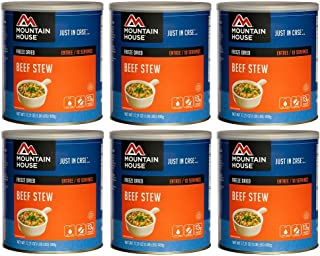 Mountain House Beef Stew #10 Can Freeze Dried Food - 6 CANS per Case