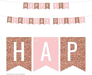Best rose gold personalised birthday banner Reviews