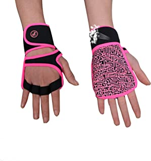 MOREOK Weight Lifting Workout Gloves, Breathable Gym Fitness Gloves Full Anti-Slip Palm Protection & Adjustable Strap Exercise Gloves Men/Women