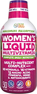 Women's Liquid Multivitamin Superfood by Feel Great 365 | Over 100 Premium Ingredients, 60 Trace Minerals, 16 Vitamins, 12 Amino Acids, 16 Herbs for Energy & Anti-Aging* | Immune Boosting Formula*