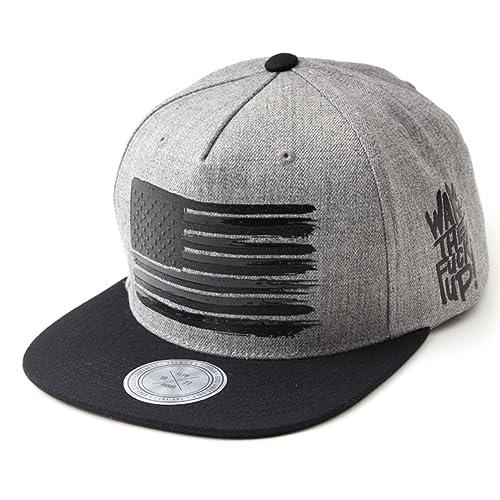 Flipper American Flag Flat Brim Bill Baseball Cap Snapback Hat for Men Women beb50b224a74