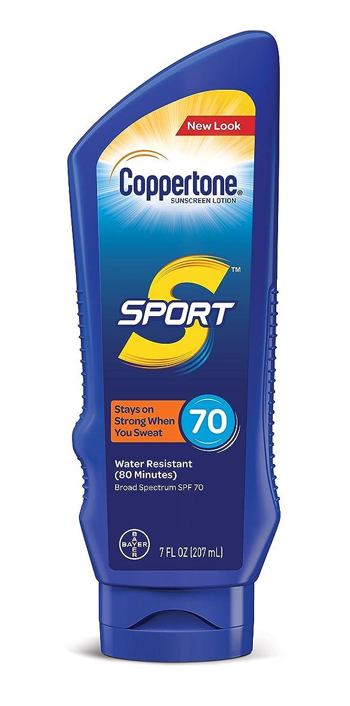 Coppertone スポーツ日焼け止めローション広域スペクトルSPF 70(7-流体オンス)