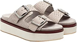 Light Grey Embossed Leather