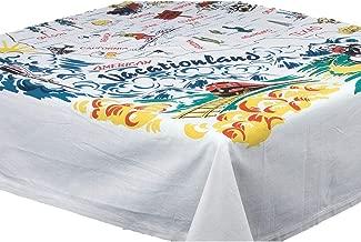 مفرش طاولة من Vacationland بتصميم خريطة الولايات المتحدة الأمريكية