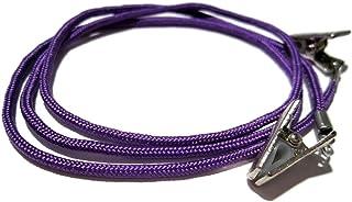 ATLanyards Purple Paracord Eyeglass Holder with Clips, Purple Clip Eyeglass Lanyard, Clip 358