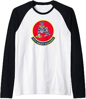 Air Force 10th Airlift Squadron Insignia Raglan Baseball Tee