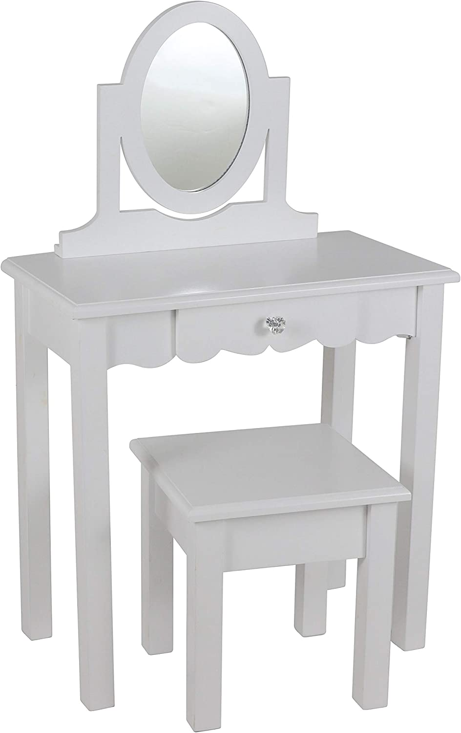 Decor Therapy Vivian White with 22x12x36 Super beauty product restock quality top Mirror Vanity Discount mail order