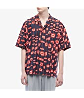MARNI - Abstract Rectangle Short Sleeve Button Down