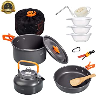 Overmont Ultralight Camping Cookware Set Camping Stove...