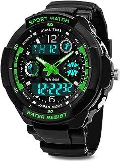 garçons montre numérique, étanche enfants montres avec 12/24 heures/alarme/chronomètre, enfants Sports de plein air analog...