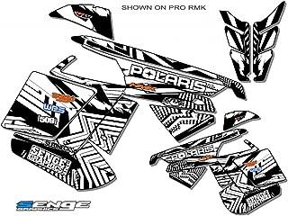 Compatible with Polaris 2010-2014 RUSH Mayhem White Sled Wrap
