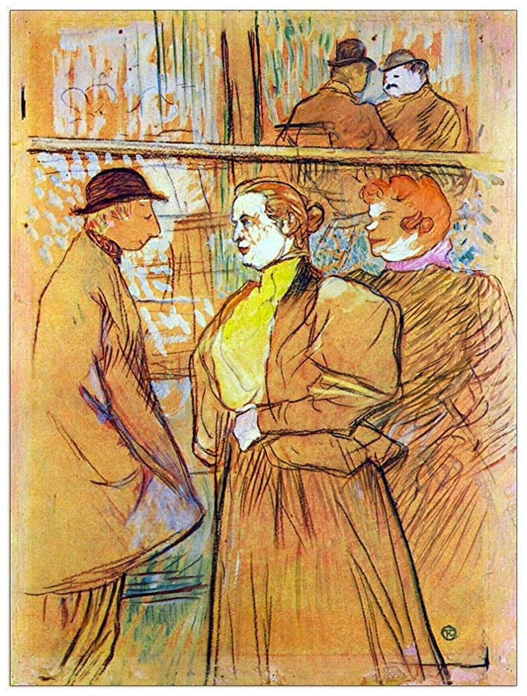 ArtPlaza TW92596 Toulouse-Lautrec - at The Moulin Rouge Decorative Panel 27.5x35.5 Inch Multicolored