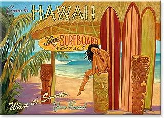 Pacifica Island Art Refrigerator Magnet - Kona Surfboards Hawaii by Rick Sharp