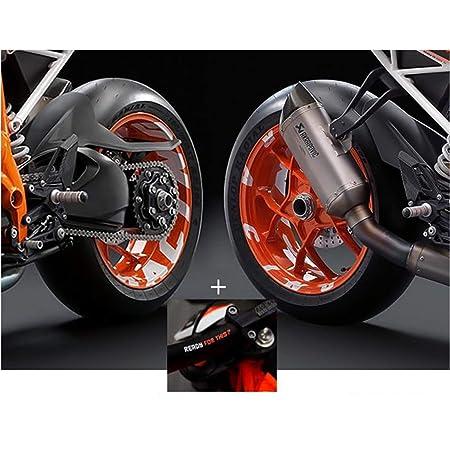 Cerchio bettauf Kleber Set di 790012/va adatto per KTM Moto 1090/Arancione