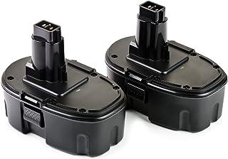 ExpertPower 2 Pack 18v 2000mAh NiCd Battery for Dewalt DC9096 DW9095 DW9096 DW9098 DE9039..