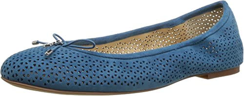 Sam Edelman Wohommes Felicia 2, Pacific bleu Perforated Suede, 6.5 M US
