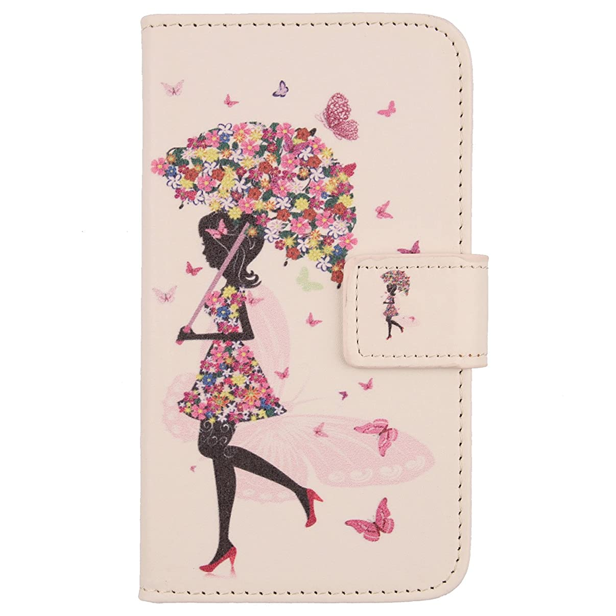 Lankashi Pattern Wallet Design Flip PU Leather Cover Skin Protection Case for Blu C5 2018 / C5L 5