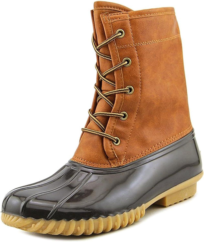 The Original Duck Boot Womens Arianna Round Toe Mid-Calf Rainboots