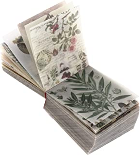 Artibetter Vintage Scrapbooking DIY Matériel Papier Pack Floral Nouvelles Papier Lettre Décoratif Antique Rétro Naturel Co...